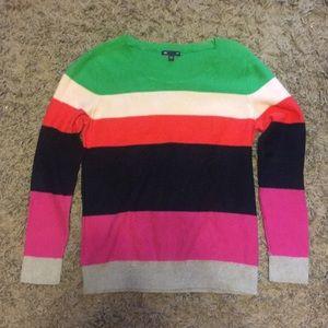 100% cotton Gap multi colored striped sweater